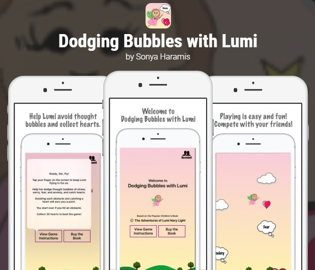 Dodging Bubbles with Lumi App by Sonya Haramis